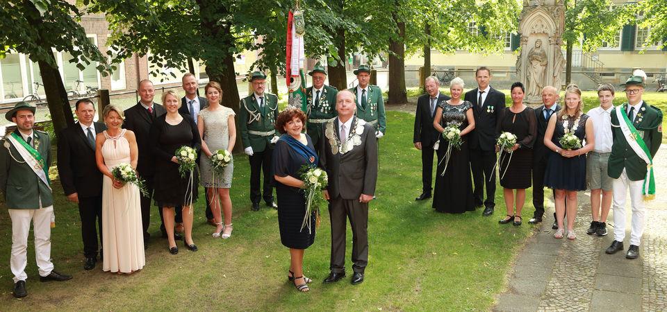 Kaiser Bernd Krimphove Königin Melanie Kremser